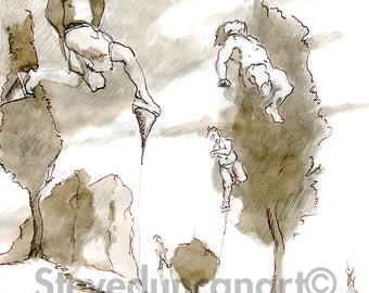 SteveDuncanArt - Title: Dancing - Print - Pen and Ink