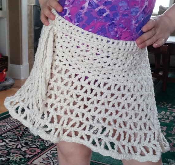 Free Crochet Pattern For Beach Wrap : Beach Skirt PATTERN, Crochet Cover up, Crochet Skirt, The ...