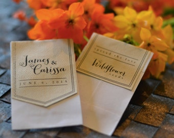Wedding Favor Seed Packet Label Printable - Spread the Love