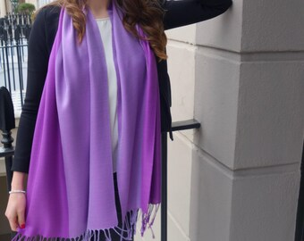 SALE! Purple two-tone evening scarf