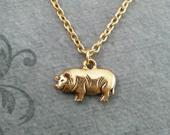 Pig necklace etsy pig necklace small pig jewelry gold necklace pig pendant necklace sow necklace farm animal necklace bacon mozeypictures Gallery