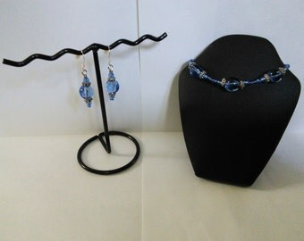 Blueberry Bracelet & Earrings Set