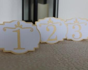 Wedding table number / table numbers / flourish table numbers