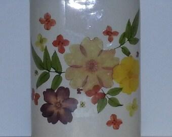 Vintage Flowered Teleflora Vase (#2088)