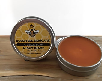 Arthritis Balm - NIGHTSHADE - Arnica & Capsicum Peppermint - Joint Pain Achey Muscles - Medicinal Herbal Rub - Aches and Pains Salve