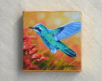 "Hummingbird Magnet/ Bird Magnet / *MORE MAGNETS* available under ""Ornaments & Magnets"" section"