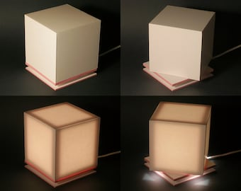 LED lamp, model CP02ER (entirely handmade)