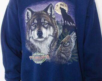 SALE Howling Wolf Pullover Sweatshirt