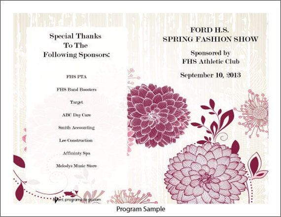 Dahlia Program Template Is Perfect For Any Event  A Wedding