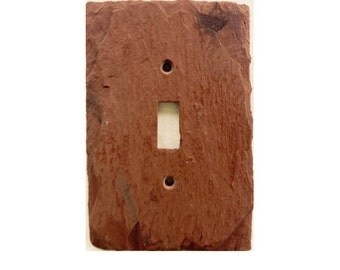 Red recycled switch plate