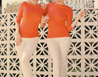 Marilyn Monroe's Orange top style