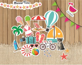 Beach Stickers, Summer Planner Stickers, perfect for Erin Condren Planners and other planners.