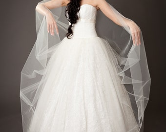 Vintage Inspired A-line Fully Lace Wedding Dress with Tulle Lace Skirt, Lace Corset, Little Belt with Swarovski Crystals
