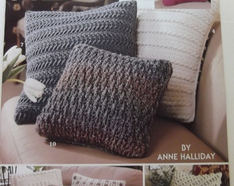 Leisure Arts Crochet Patterns for Decorator Pillows Eleven Styles with Simple Instructions Unused