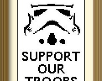 Stormtrooper Patriotism Star Wars Cross Stitch Pattern: Buy 2 Patterns get a 3rd FREE!