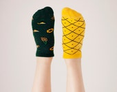 Pineapples Low Socks | women socks | colorful socks | summer socks | mens socks | funny socks | patterned socks | mismatched | worldwide