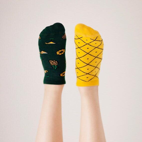 Pineapples Low Socks | women socks | colorful socks | summer socks | mens socks | funny socks | patterned socks | mismatched | worldwide