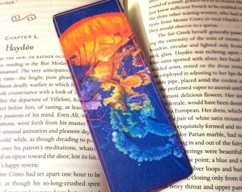 Jellyfish, Bookmarks, Laminated Print of Original Colored Pencil Illustration