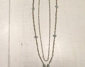 Double Chain Pendant Necklace
