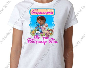 Pawpaw of the birthday girl doc mcstuffins iron on disney for Doc mcstuffins birthday girl shirt