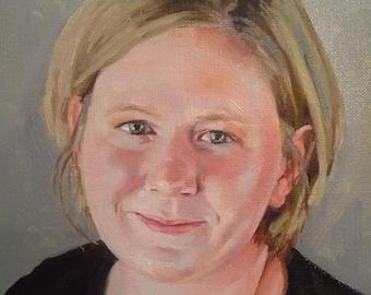Custom Oil Painting Portrait, 8x10 Canvas,