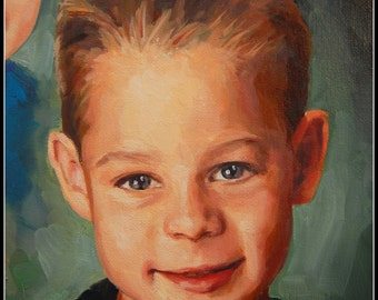 EXAMPLE ONLY. 8x10 Custom Painting Portrait, Oil, Child, Handmade