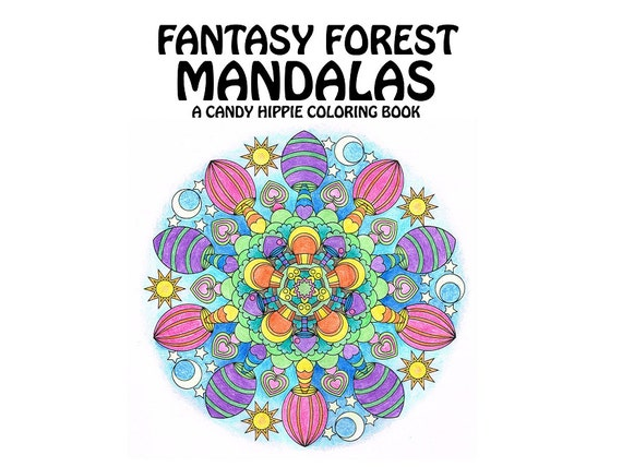 adult coloring book fantasy forest mandalas printable mandala coloring book 12 adult coloring pages - Mandalas Coloring Book