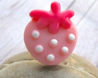 Strawberry Ring, Kawaii ring, Strawberry Jewelry, Kawaii Jewelry, Cute Ring, Food Jewelry, Fun Ring