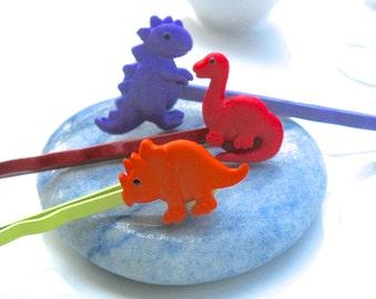 Dinosaur Bobby Pins, Animal Bobby Pins, Colorful Bobby Pins, Cute Bobby Pins, Decorative Bobby Pins, Dinosaur Buttons, Button Bobby Pins
