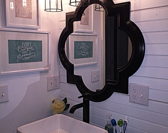 Bathroom Cages Vanity Bar Light Fixture Industrial Style Pine Wood