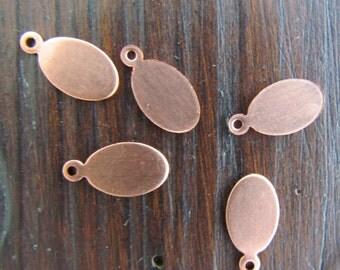 Copper Oval Tag (5)