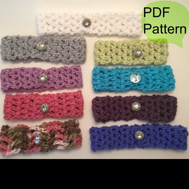 CROCHET PATTERN: Crochet Headband head wraps baby Girl