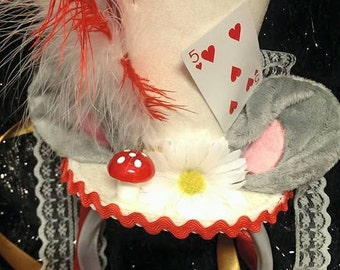 The Dormouse Alice in Wonderland Bespoke Mini Top Hat Mad Hatter Tea Party Wedding Ascot Cosplay
