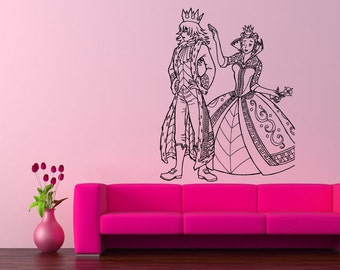 Wall Vinyl Sticker Decals Mural Room Design Pattern Art Prince Princess Couple bo1830