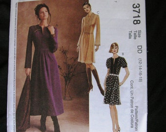 NEW McCalls Dress Pattern 3718 size 12-14-16-18