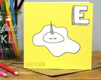 Egg Unicorn Card