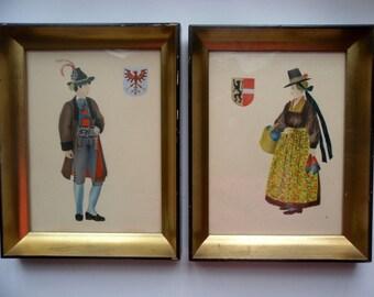 Vintage Framed Art/French Provincial