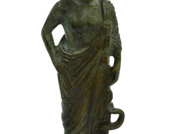 Asclepius bronze statue Ancient Greek God of medicine