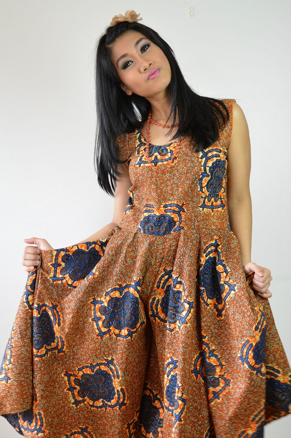 Vintage African prints jumpsuit dress