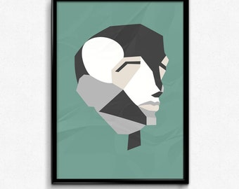 Geometric Human Head