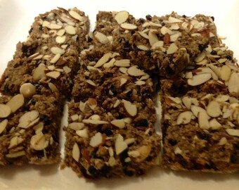 Lisa G's Favorite Sunrise Breakfast Bars /Healthy Bars/Gluten-Free Oatmeal Bars/ Oatmeal Protein Bars/ Cinnamon Honey Oatmeal Bars/Trek Bars