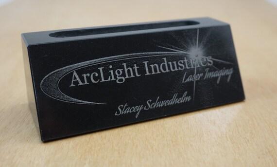 Marble business card holder by arclightlaser on etsy for Marble business card holder
