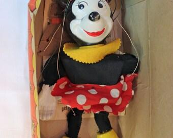 Minnie Mouse Marionette with Original Box circa 1952