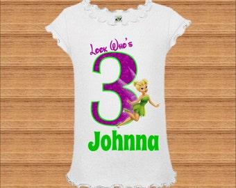 Tinkerbell Birthday Shirt - Tinker bell Birthday Shirt