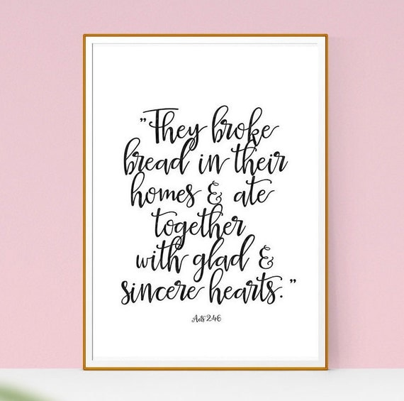 Wall art printable bible quote acts verse