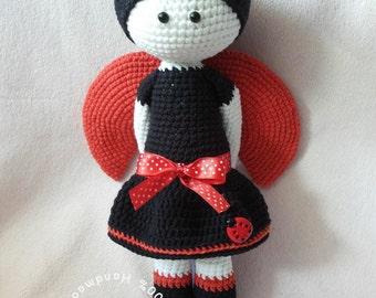 Lilly The Ladybird, amigurumi doll