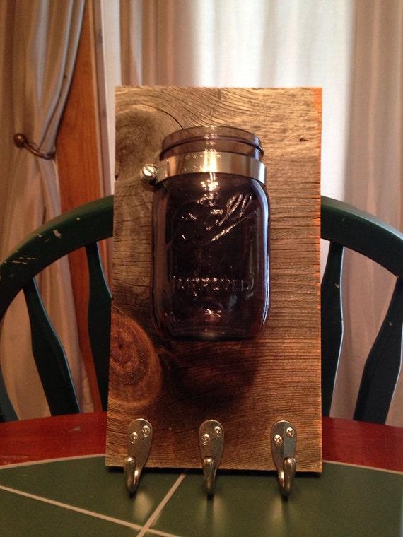 Mason Jar Vase and Keys Holder