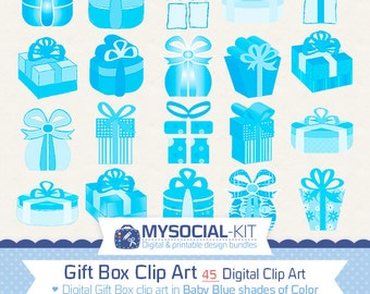 Giftbox clip art etsy 45 baby blue gift box clipart instant download gifts clip art mix digital negle Image collections
