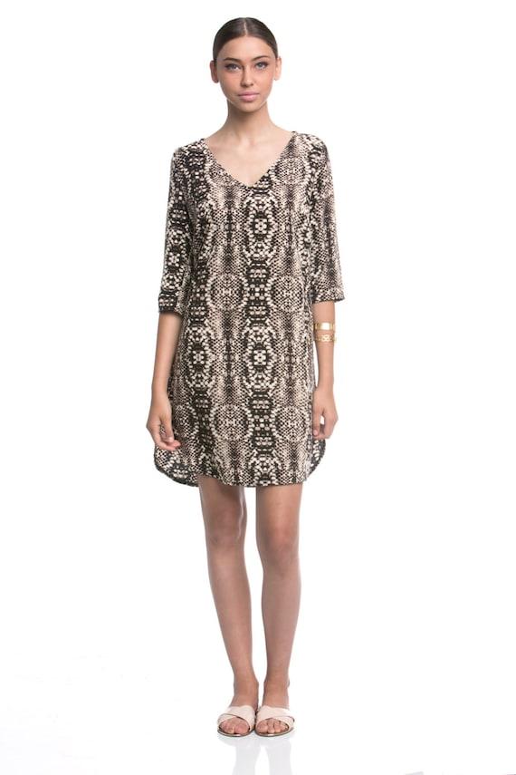 Snake Shirt Dress Snake Print Dress Shirt Dress