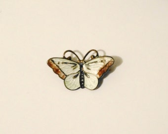"Vintage  Unique OXSTERLING Stamped Gorgeous Enamel Butterfly 1"" x 0.50"" size Brooch"